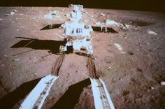 China's Yutu lunar rover is seen by a camera on the country's Chang'e 3 lander after both successfully landed on the moon together on Dec. 1...