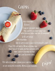 Crepe recipe (via @Eileneekr578 )