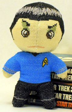Spock Cross Stitch Doll and Sewing Pattern by robinsdesign Spock, Star Trek Cross Stitch, Stitch Doll, Geek Crafts, Crochet Cross, Hand Designs, Colorful Pictures, Cross Stitching, Sewing Projects