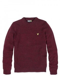 Lyle and Scott KN089CL Crew Neck Mouline Knitwear, from ApacheOnline