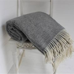 grey and cream wool throw by marquis & dawe | notonthehighstreet.com