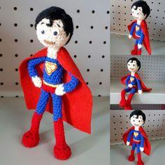 Superman #amigurumi Elf On The Shelf, Superman, Holiday Decor, Home Decor, Amigurumi, Decoration Home, Room Decor, Home Interior Design, Home Decoration