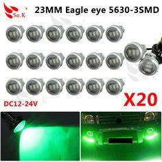 Car Stytling 20pcs DC12V 23mm Eagle Eye DRL LED Daytime Running Light work light source Waterproof Fog Parking Light Freeshippin
