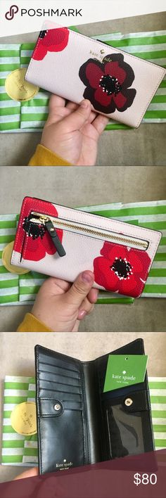 Kate Spade Floral Wallet Brand new, never used Kate Spade Wallet. Comes with tags and original packaging. Feel free to send in an offer! kate spade Bags Wallets