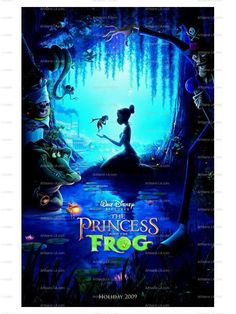 The Princess and the Frog Walt Disney Movie Poster Print by nukes, $1.00
