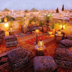 Gorgeous bohemian rooftop