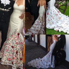 Cheap gown wrap, Buy Quality dress evening gowns directly from China dress bridal gown Suppliers: Custom Made Design Fully Colorful Embroidery Long Mermaid Wedding Dresses 2016 New Fashion Halter Bridal Gowns Vestido De Noiva Mariachi Wedding, Charro Wedding, Mexican Wedding Invitations, Chic Wedding, Dream Wedding, Bridal Gowns, Wedding Gowns, Made Design, Mexican Themed Weddings