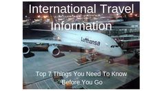 Planning on going on a big trip? Have no idea where to start and what you might need to do beforehand? I've compiled some useful international travel Travel Information, Need To Know, Travel Tips, To Go, How To Plan, Big, Travel Advice