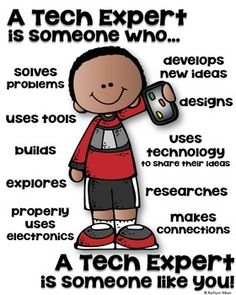 TECH EXPERT poster for the STEM classroom!There are 2 different versions included:-A Tech Expert is someone who...-A Tech Expert is someone who uses technology to..Each set includes 4 different kids to choose from.Thank you!!________________________________________________________You may also be interested in...SOMEONE WHO SERIES:SCIENTISTENGINEER READERSTUDENT ARTIST **Free**________________________________________________________