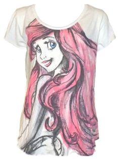 The Little Mermaid Ariel Womens / Juniors Fashion Shirt (M (7-9))