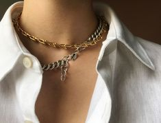 Long reserved for ring piles and wrist stacks, jewelry layering has made its way north to necklace territory.