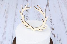 Antler Cake Topper Rustic Wedding Cake by DownInTheBoondocks