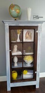 diy tall window cupboard, diy, how to, painted furniture, repurposing upcycling, woodworking projects