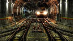Subway train at Tokio, Japan