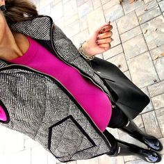 IG @mrscasual <click through to shop this look> J.Crew Factory Herringbone vest.  Pink Tippi sweater.  Black maternity skinny jeans.  Hunter tall glossy rain boots.  Tory Burch perry tote.