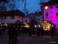Christmas market at Hohensalzburg Fortress in Salzburg, Austria Advent Season, Salzburg Austria, Christmas Markets, Coat Of Arms, Marketing, Projects, Log Projects, Family Crest, Tile Projects