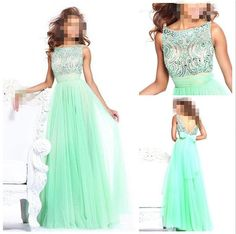 Sale Floor length Chiffon beading prom by customdress1900 on Etsy, $148.00