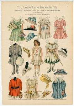 The Lettie Lane Paper Family: Presenting Lettie's Best Friend & Some of Her Pretty Dresses, 1909
