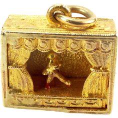 RARE Vintage 9ct Gold Articulated Paris FOLLIES Charm 1952