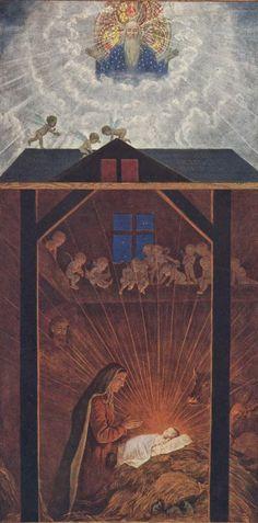 Hans Thoma, The Nativity Hans Thoma, Caspar David Friedrich, Expressionist Artists, Bible Pictures, Jesus Christ, Savior, Nativity, Impressionist, 19th Century