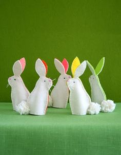 Show and Tell: bunny finger puppets