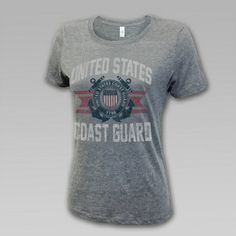 Coast Guard Women's Vintage Distressed Tee | ArmedForcesGear.com
