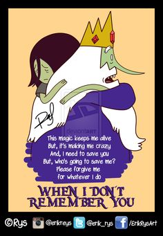 sad marceline and ice king adventure time - Google Search