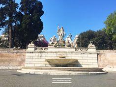 Neptune fountain #Rome #piazzadlpopolo #travel #architecture  #photography www.aladyinrome.com