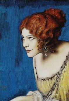 'Tilla Durieux as Circe' (1912-13) by German symbolist/Art Nouveau artist and architect Franz von Stuck (1863-1928). via the woman gallery