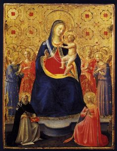 Virgin and Child with Sts Dominic and Catherine of Alexandria by ANGELICO, Fra #art