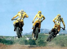 "This was the ""El Cajon"" zone. All JT and super stylish. Yamaha Motocross, Motocross Racer, Motorcycle Racers, Yamaha Motorcycles, Bmx, Enduro Vintage, Vintage Motocross, Vintage Bikes, Vintage Motorcycles"
