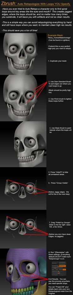 Zbrush Tutorial: Auto Retopologize With Specified Loops... — polycount