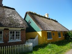 Old houses in Sønderho, Fanø. Photo by Tina Møller.