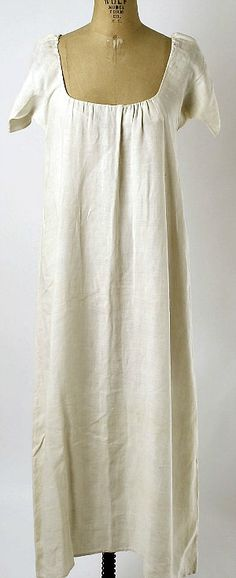 Unknown (French), Linen chemise (18th century). They wore this in the 18th century! I want to wear it now:)