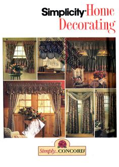 90's Simplicity 8052 Home Decorating Simply by patternscentral