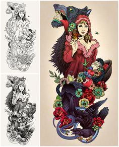 Little Red Riding hood Tattoo by *theirison on deviantART