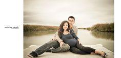 maternity photos at a lake