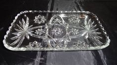 Vintage Anchor Hocking Prescut Star of David Tray