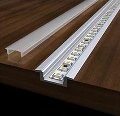 Aluminum Extrusion Recess Mount- QTY 2 - channel - Recess mount - Frosted Cover - 2 End Caps - Spring mounting clip - Dimensions: channel / width / height Led Light Design, Ceiling Light Design, Lighting Design, Ceiling Lights, Led Wall Lights, False Ceiling Design, Accent Lighting, Diy Interior Lighting, Home Lighting
