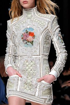 embroidery and rich textures at Balmain