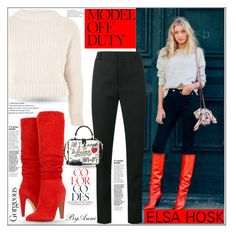 """Get the look ! Elsa Hosk"" by anne-977 ❤ liked on Polyvore featuring Topshop, Yves Saint Laurent, Steve Madden, Dolce&Gabbana, polyvorecontest and modeloffduty"