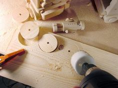 """How to Easily Make Small (under 3"""") Perfect Wood Toy Wheels"""