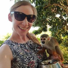 So basically top life moment. Got to meet spider monkeys in the Dominican Republic last week!