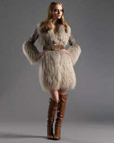 Belted Shearling Coat by Gucci at Bergdorf Goodman.