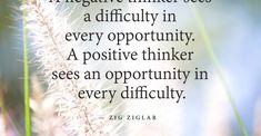 Positive thinkers see opportunities by Zig Ziglar