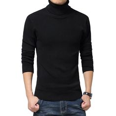 a5825b8690f9c solid slim fit pullover men gray white sweater men brand 2016 M-XXL male  turtleneck. Pulls blancsChandail Tricoté Pour HommePullFormeHiverVêtementsBranding  ...