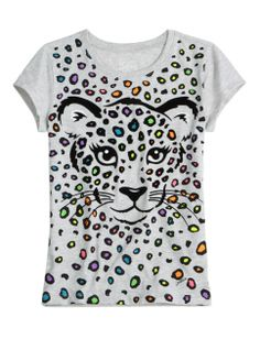 MULTI CHEETAH GRAPHIC TEE | GIRLS BLOOM BRIGHT NEW ARRIVALS | SHOP JUSTICE