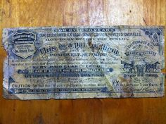 """Guarantee Ticket """"For Over 20 Years"""", 1893-96"""