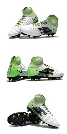 the best attitude 6c8ad b52e1 Nike Magista Obra II FG Nouveaux Chaussure de Foot - Blanc Vert Noir