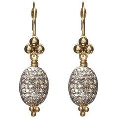 Nikki Baker Large Diamond Bean Earrings